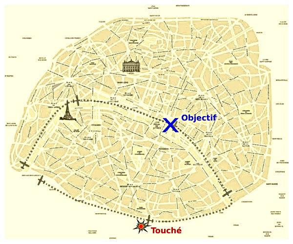 Carte de la mission du 24 août 1944 sur la préfecture de Paris.