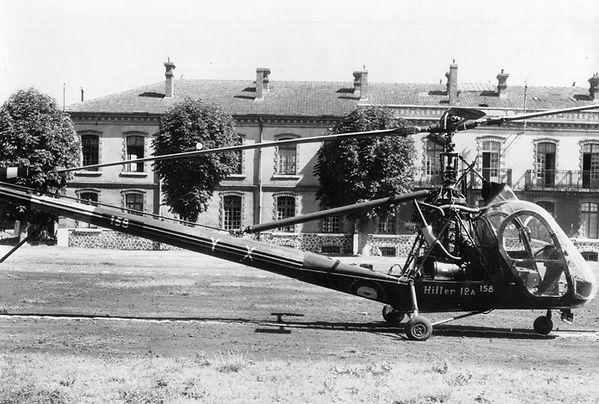 Le Hiller UH-12A, N° 158, codé YX, du GH N°1
