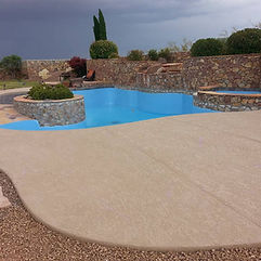 decorative concrete, concrete flooring, polished concrete, pool deck, pool remodel