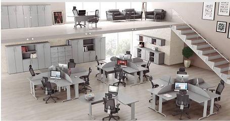 Mesa em L, Mesa Delta, Mesas para Escritórios