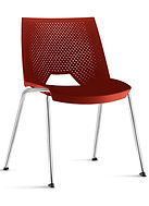 Cadeira pé palito, Cadeiras estilosas, Cadeiras com 4 pés, Cadeiras plásticas, Cadeiras com estrutura cromadas, Cadeiras Tocco