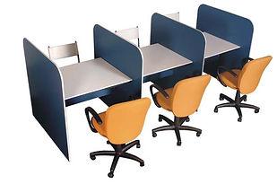 Baias de atendimento; Posto de atendimento; Posto de telemarketing; Posto de Call center; Mesas operacionais; mesas para escritorio