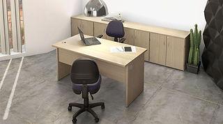Mesa Operacional; Mesa para escritório; Mesa com pé de madeira; tocco móveis para escritório
