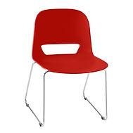 Cadeira Kind Vermelha em Polipropileno