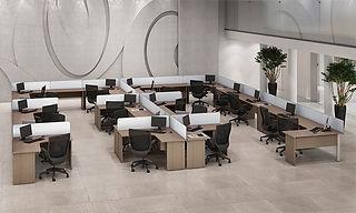 mesa operacional; Estação de Trabalho; Mesa delta; Mesa em L; Mesa para escritório; Staff; Móveis para escritório