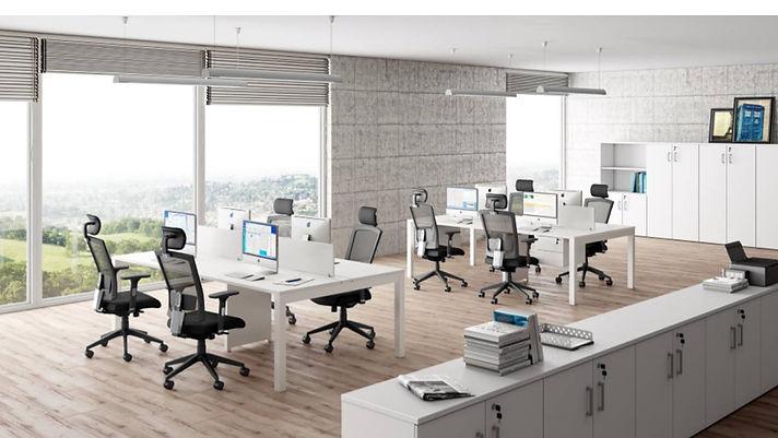 Mesas Staff, Estação de Trabalho, Mesas para Escritórios, Mesas Plataforma, Linhas Operacionais, Plataformas de Trabalho Pé em aço, Móveis Avantti, Mobiliários Corporativos, Mobiliários p/ escritórios
