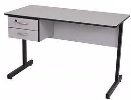 Mesa Reta para Escritórios com 02 gavetas Básica