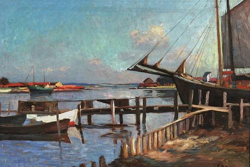 Egernsund Havn 1932  (af  Carl Wennemoes 1890-1965)