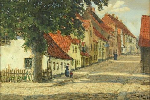 Valdemar MAGAARD (1864-1937) Motiv fra Aabenraa