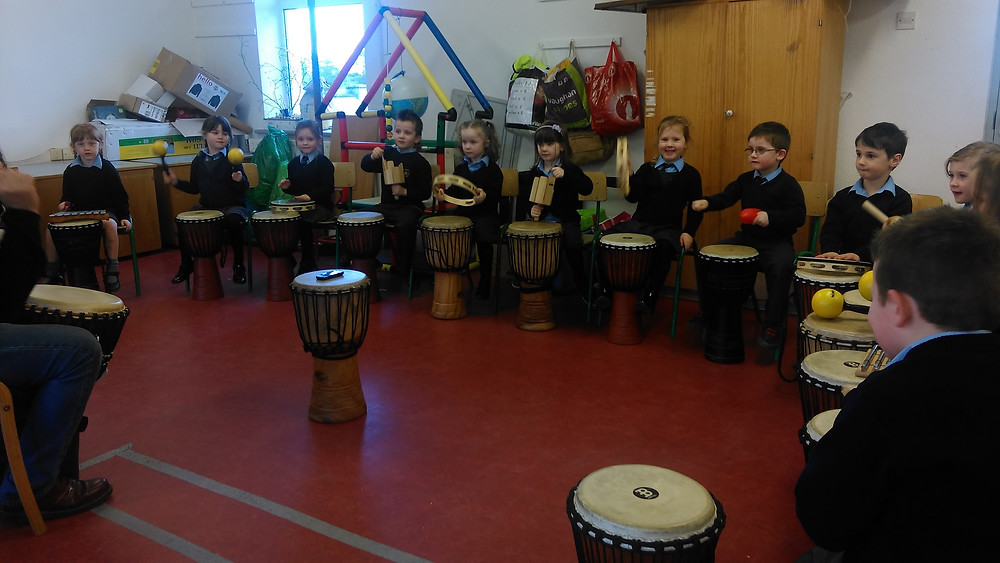 We are having so much fun drumming with Anthony and learning all about so many different instruments. Mozart watch out!!!