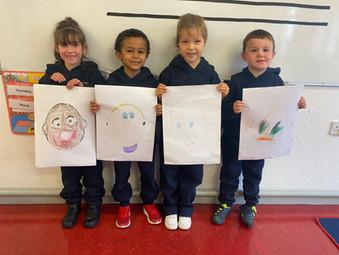 Self Portraits by Infants