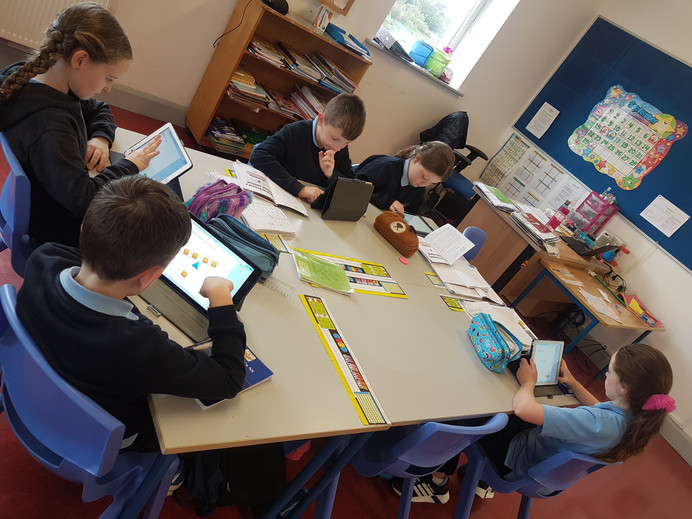 3rd & 4th Class Busy at Work!