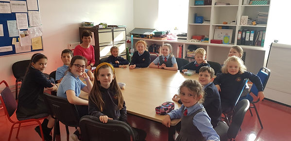 Our Student Council's first meting with Mrs Jennings,lots to discuss!