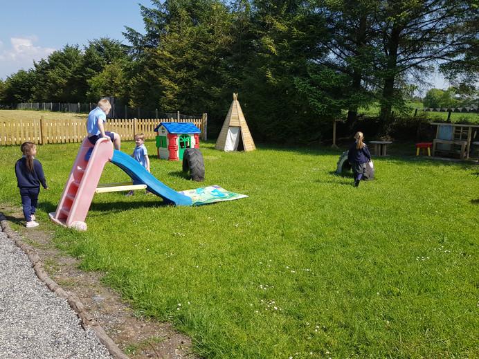 Infants Enjoying the Outdoor Play Area