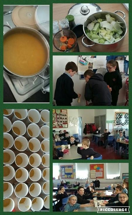 School-made Veg Soup
