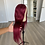 Thumbnail: Burgundy 26 inch lace closure wig