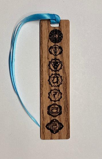 Chakra Bookmark Laser Engraved Wooden Chakra Bookmark