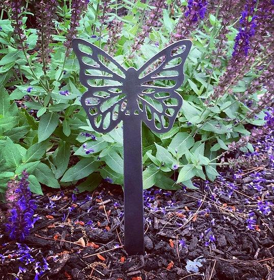 Butterfly Steel Garden Stake Decoration