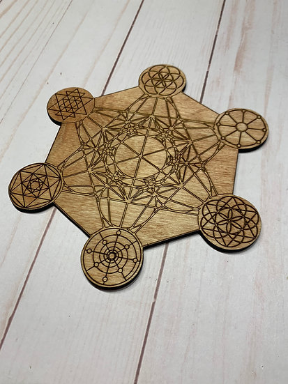 Metatrons Cube Crystal Grid with 6 other Grids on the Points