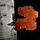 Thumbnail: Metal Reindeer Tree Ornament Powder Coated