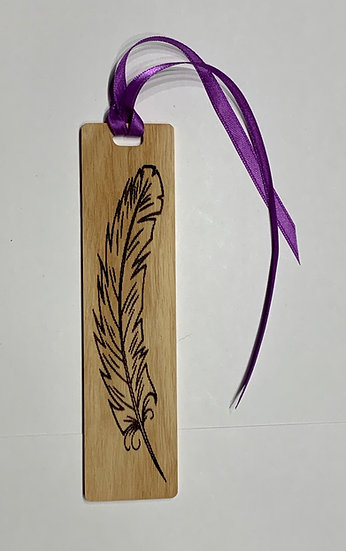 Feather Bookmark Laser Engraved