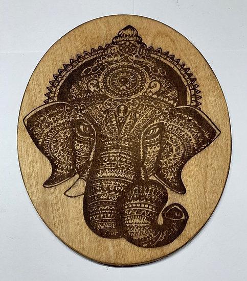 Elephant Mandala Laser Engraved