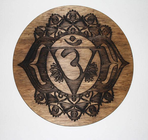 Third Eye Chakra Laser Engraved Wooden Third Eye Chakra Board