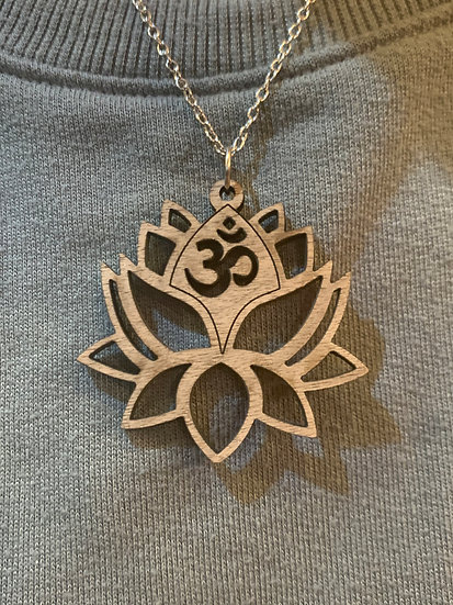 Lotus Om Pendant Necklace