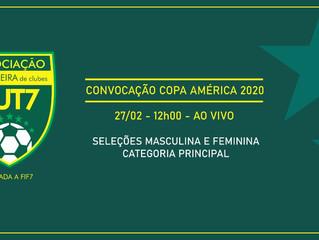 Associação Brasileira divulga a data da convocação para a Copa América 2020