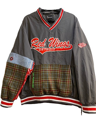 maillot hockey Red Wings gris