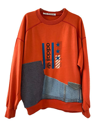 sweat Adidas vintage orange