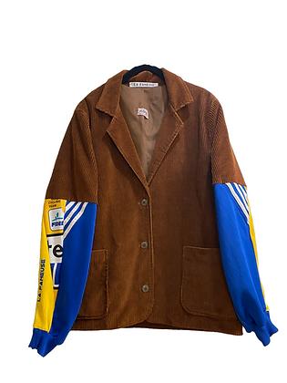 veste velours côtelé & Adidas