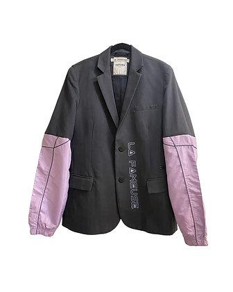 Jacket  jean noir & Pastel