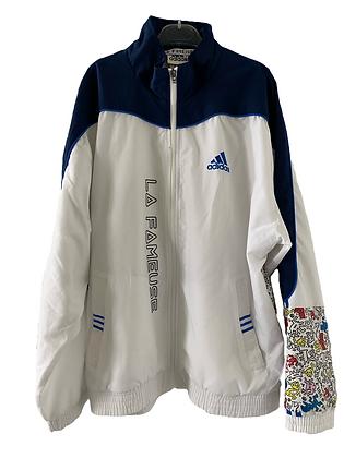 coupe-vent Adidas blanc & marine