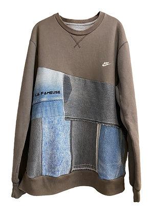 sweat Nike gris mini logo