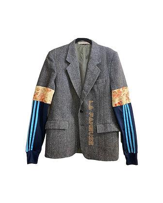 veste tweed fleurs & Adidas