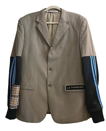 veste rayure mix Adidas