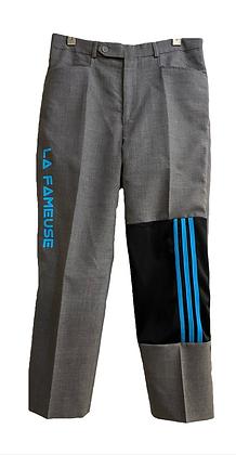 pantalon laine gris mix Adidas