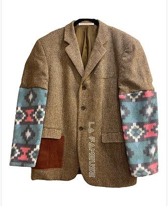 veste tweed laine & polaire