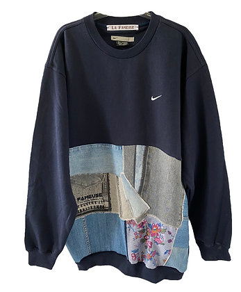 sweat Nike marine mini swoosh