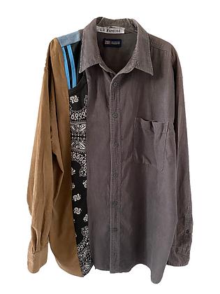 chemise velours mix