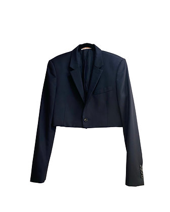 Veste de tailleur jeans& fleurs croptop