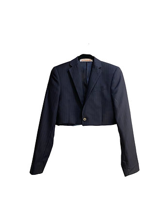 Veste de costume  à fleur croptop
