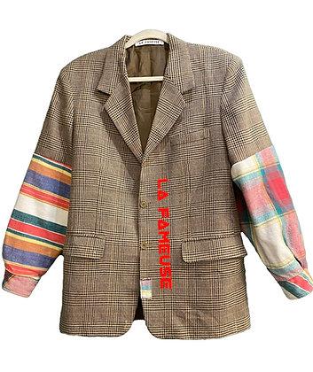 jacket Prince-de-galles mix chemise