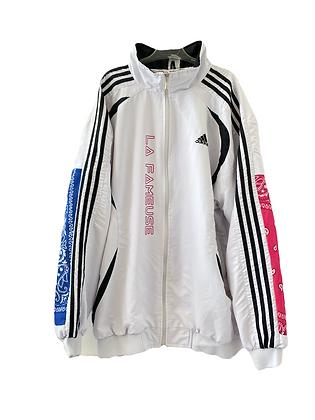 trackjacket Adidas blanche