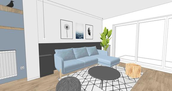 esquisse aménagement appartement