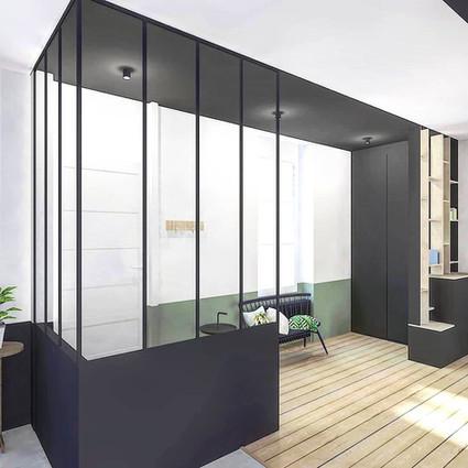 TIPHAINE MODIN | Architecte et decoration d'interieur | Nantes | Rénovation maison nantaise ancienne - creation entree et dressing