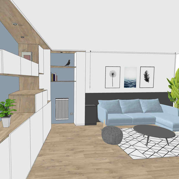 Aménagement appartement - île de Nantes