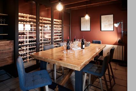 TIPHAINE MODIN | Architecte et decoration d'interieur | Nantes | Cave a vin - salle de degustation de vin - La fontaine aux bretons - Pornic