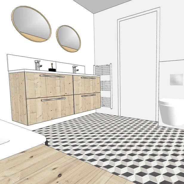 Salle de bain à Nantes. > Voir plus